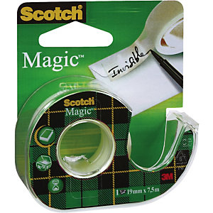 Scotch® Magic™ Cinta adhesiva invisible de oficina, transparente, 19 mm x 7,5 m