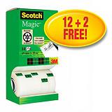 Scotch® Magic™ Cinta invisible de oficina, transparente, 19 mm x 33 m