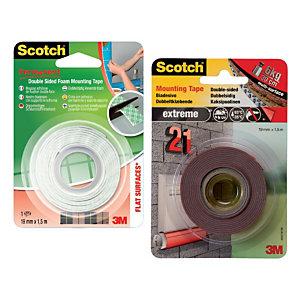 Scotch® Nastro biadesivo forte per montaggio in schiuma, 19 mm x 1,5 m, Bianco, Permanente