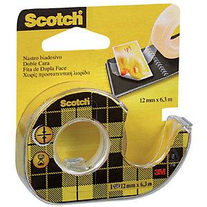 Scotch® Nastro biadesivo Trasparente 12 mm x 6,3 m Con dispenser manuale