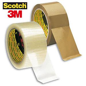 Scotch® Nastro da imballo Standard Srotolamento silenzioso, 50 mm x 66 m, PVC, Trasparente (confezione 6 rotoli)