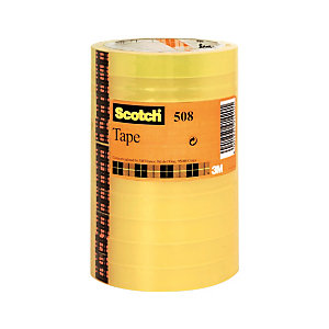 Scotch® Nastro da ufficio Standard, 15 mm x 66 m, Polipropilene, Trasparente (confezione 10 pezzi)