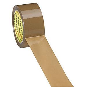 Scotch® Ruban adhésif d'emballage polypropylène premium 60 microns - 50 mm x 100 m - Havane