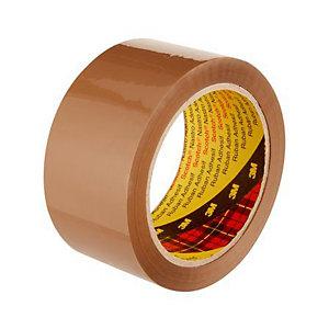 Scotch® Ruban adhésif d'emballage polypropylène silencieux 50 microns - 50 mm x 66 m - Havane