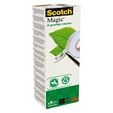 Scotch® Ruban adhésif invisible Magic 900 100% recyclé (Pack de 9)