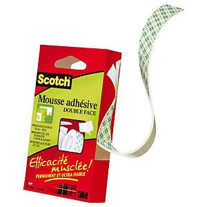 Scotch® Ruban mousse double-face permanent Blanc 19mmx1,5m