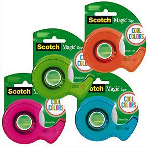 SCOTCH® SCOTCH Dévidoir Cool color rubans Magic™ invisible 19 mm x 19 m