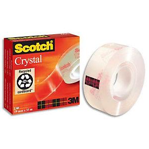 SCOTCH® SCOTCH Ruban adhésif Crystal transparent 19 mm x 66m - en boîte individuelle