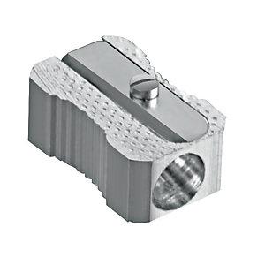 SCRIVA Temperamatite, 1 Foro, Grigio metallizzato