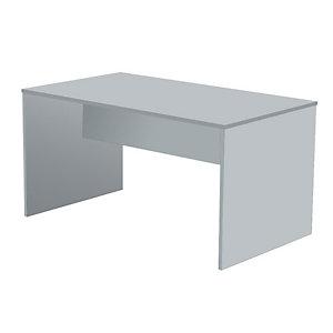 """Scrivania operativa """"Linea Pronto"""" - Fianchi melaminico grigio - cm 140 x 80 x 72 h. - Colore piano grigio"""