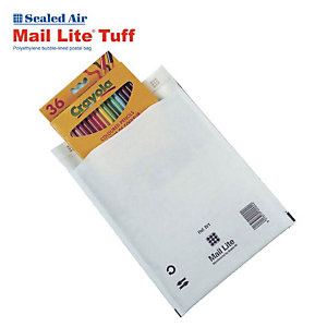 Sealed Air® Mail Lite, Busta imbottita a bolle d'aria, AirCap®, Autoadesiva, Carta Kraft, G4, 240 x 330 mm, Bianco (confezione 10 pezzi)