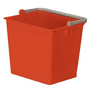 Seau 6 L rouge
