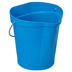 Seau alimentaire Vikan 12 L bleu
