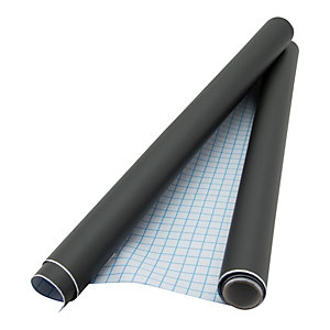Securit® Lavagna Autoadesiva in rotolo, PVC, 100 x 45 cm, Nero
