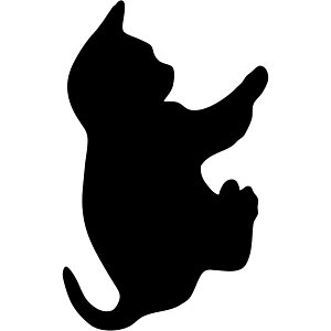 SECURIT Lavagna da parete Silhouette - 45,5x29 cm - forma gatto - nero - Securit