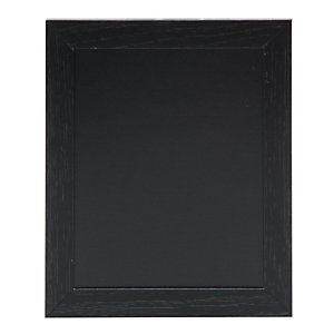 Securit® Lavagna da parete Woody con 1 marcatore a gesso liquido bianco incluso, 24 x 20 cm, Nero