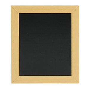 Securit® Lavagna da parete Woody con 1 marcatore a gesso liquido bianco incluso, 24 x 20 cm, Teak