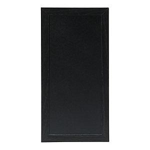 Securit® Lavagna da parete Woody con 1 marcatore a gesso liquido bianco incluso, 40 x 20 cm, Nero