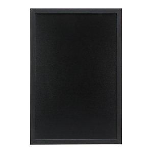 Securit® Lavagna da parete Woody con 1 marcatore a gesso liquido bianco incluso, 40 x 60 cm, Nero