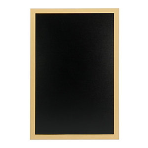 Securit® Lavagna da parete Woody con 1 marcatore a gesso liquido bianco incluso, 40 x 60 cm, Teak