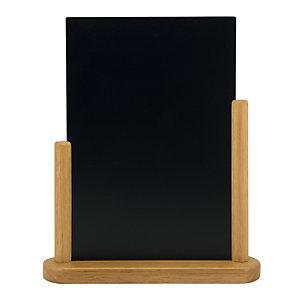 Securit® Lavagna da tavolo Elegant, Formato A4, Teak