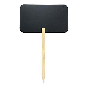 Securit® Lavagna Silhouette Stick Rettangolare con punta in legno di pino e 1 marcatore a gesso liquido incluso