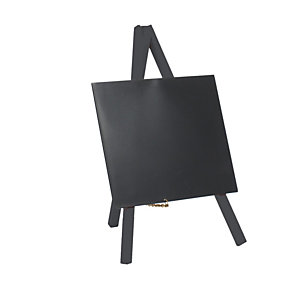 SECURIT Mini Lavagna con cavalletto nero - 24,4x15 cm - nero - Securit