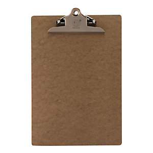 Securit® Portamenù con clip in acciaio, Formato A4, Marrone