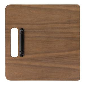 Securit® Portamenù in legno, Formato A4, Design tagliere, Noce