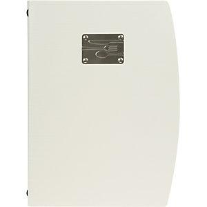Securit® Portamenù Rio con doppio inserto, Formato A4, Bianco/Grigio