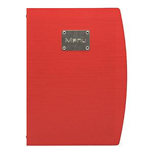 Securit® Portamenù Rio con doppio inserto, Formato A4, Rosso