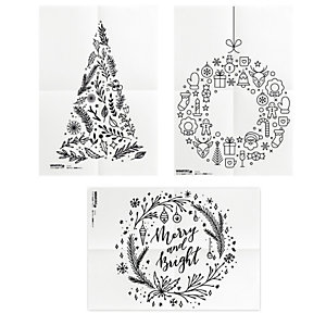 SECURIT Stencil - fuglio A2 - 'NATALE' - Securit - set 3 pezzi