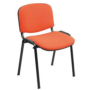 Sedia attesa impilabile, Tessuto acrilico 100%, Arancione (confezione 2 pezzi)