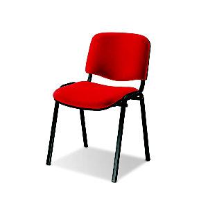 Sedia attesa impilabile, Tessuto acrilico 100%, Rosso (confezione 2 pezzi)