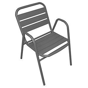 Sedia da giardino impilabile Contract, Alluminio, Antracite