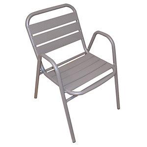 Sedia da giardino impilabile Contract, Alluminio, Tortora