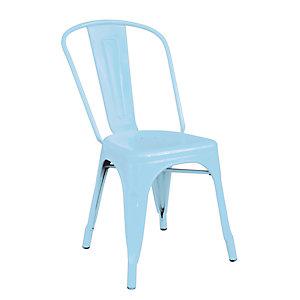 Sedia da giardino impilabile Plate, Blu