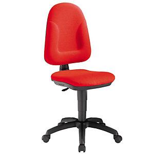 Sedia operativa Allegra, Tessuto acrilico, Altezza 48 - 59 cm, Rosso