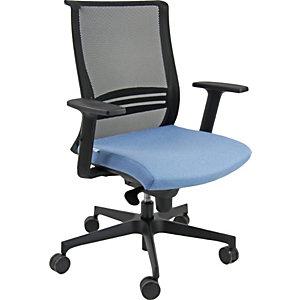 Sedia operativa ergonomica Atmosfera, Rete e Tessuto Gabriel, Azzurro
