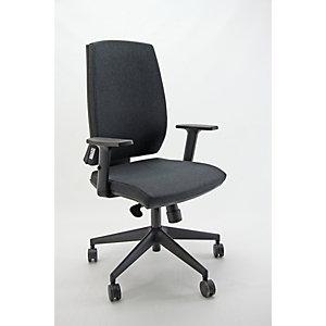 Sedia operativa ergonomica Natural, Tessuto e struttura riciclati e riciclabili, Antracite