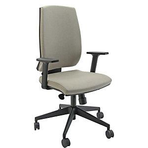 Sedia operativa ergonomica Natural, Tessuto e struttura riciclati e riciclabili, Tortora