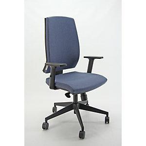 Sedia operativa ergonomica Natural, Tessuto e struttura riciclati e riciclabili, Verde petrolio