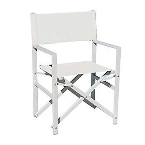 Sedia Regista, Struttura in alluminio Bianco Sandy/Ecrù