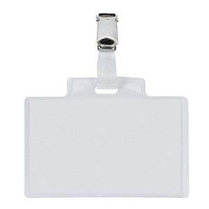 SEI ROTA Portanome Pass 3E - 9,5 x 6 cm - metallo - con clip - Sei Rota - conf. 10 pezzi
