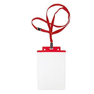 SEI ROTA Portanome Pass 6S-P - cordoncino rosso - 10x15 cm (A6) - rosso - Sei Rota - conf. 10 pezzi