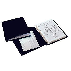 SEI ROTA Raccoglitore Sanremo 2000 - 4 anelli a D 25 mm - dorso 4 cm - 30x42 cm (libro) - nero - Sei Rota
