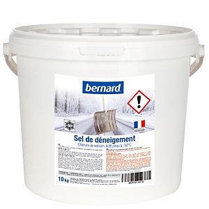 Sel de déneigement chlorure de calcium , seau de 10 kg