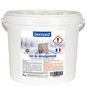 Sel de déneigement chlorure de calcium, seau de 6 kg