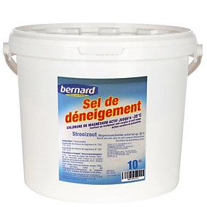 Sel de déneigement chlorure de magnésium Bernard, seau de 10 kg