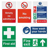 Self-adhesive safety signs
